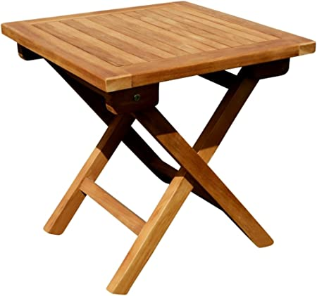 ASS Teak Klapptisch Holztisch Gartentisch Garten Tisch Beistelltisch 45x45cm Holz Picnic von