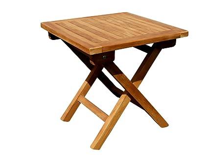 Holztisch Gartentisch.Ass Teak Klapptisch Holztisch Gartentisch Garten Tisch Beistelltisch 45x45cm Holz Picnic Von
