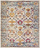 Safavieh Crystal Collection CRS518G Cream and Teal Distressed Area Rug (9′ x 12′) Review