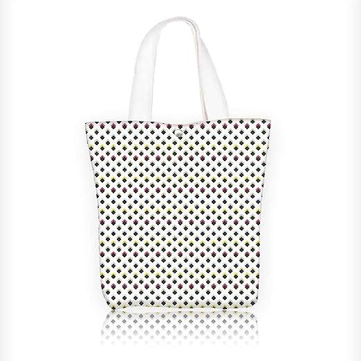 Bolsa de lona con estampado artístico de rayas gruesas ...