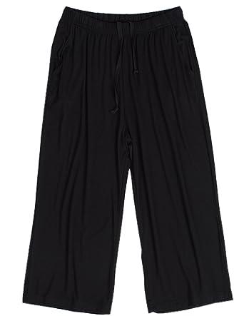 e8d4ff28d7 ... promo code e9f4d b623c HONG HUI Women Pajama Capri Pants Soft Sleep  Lounge Pants with Pockets ...