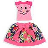 """WakaoFeeling Mix N' Match Outfits Set Doll Clothes for 14.5 Inch American Girl Wellie Wishers dolls and 14"""" Glitter Girls"""