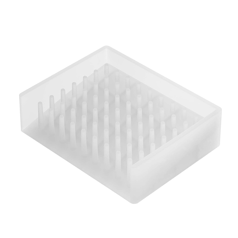 YAMAZAKI home 2992 Self Draining Soap Tray-Floating Holder Dish for Sink, White