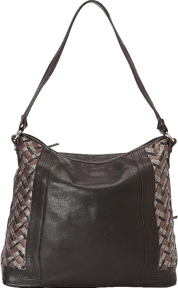 Derek Alexander Large Two Top Zip Shoulder Bag