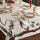 Lenox Holiday Nouveau Christmas Tablecloth ~ 60 x 84