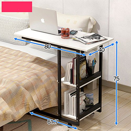 A30 White Table Lazy Notebook Bedside Computer Laptop Desk 80x40x69cm limitless Sharing