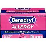 Benadryl Allergy Ultratab Tablets, 100 Count