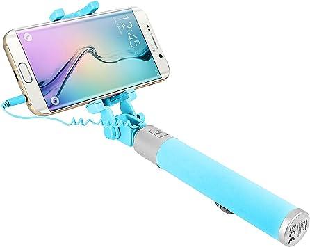 Forever Pértiga de Selfie Smartphone Monopod Selfie Brazo telescópico 21 – 55 cm Conexión Toma Jack 3.5 Soporte Extensible Sólido Plegable 145 ° Botón Disparador: Amazon.es: Electrónica