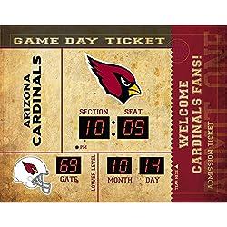 Team Sports America Arizona Cardinals Bluetooth Scoreboard Wall Clock