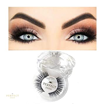 eeefe6007ea Amazon.com : Magnetic Eyelashes Full Eye 3 Magnets Natural Look 3D Premium  Quality Soft Thin Handmade No Glue Best Fake Reusable Cruelty Free for  Everyday ...