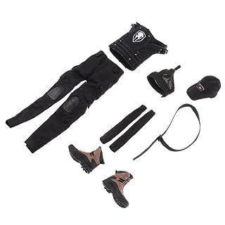 MagiDeal 1/6 Abbigliamento Tuta Combattimento Gilet Top Reggiseno per Azione Figure Femminile 12' Tessuto - Nero