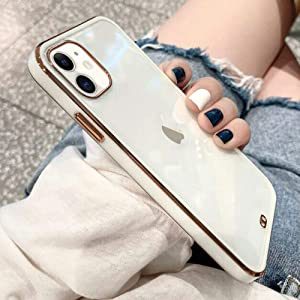 Urarssa Case Compatible with iPhone 11 Crystal Clear Transparent Design Back Bumper Shockproof Slim Fit Soft TPU Silicone Protective Phone Case Cover for iPhone 11, White