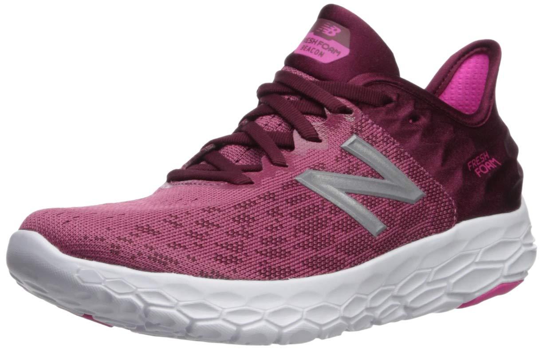 New Balance Women's Beacon V2 Fresh Foam Running Shoe, Dragon Fruit/Sedona, 5 W US