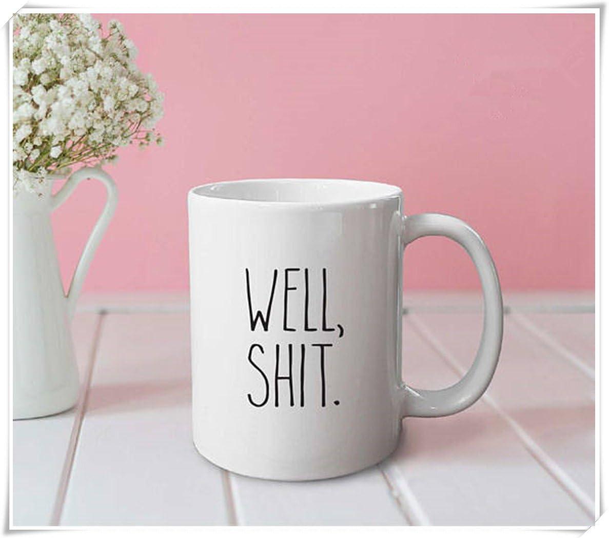 OttoRiven101 - Well, shit mug - funny mug, cute mug, office mug, gifts for her, gifts for him, coffee mug, 11oz Ceramic Coffee Mug/Tea Cup, High Gloss