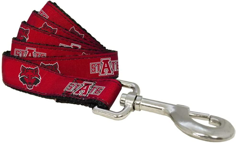 All Star Dogs NCAA Arkansas State Red Wolves 6-Feet Dog Leash