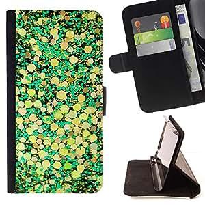 Momo Phone Case / Flip Funda de Cuero Case Cover - Hojas amarillas de la naturaleza Diseño - Sony Xperia Z5 5.2 Inch (Not for Z5 Premium 5.5 Inch)