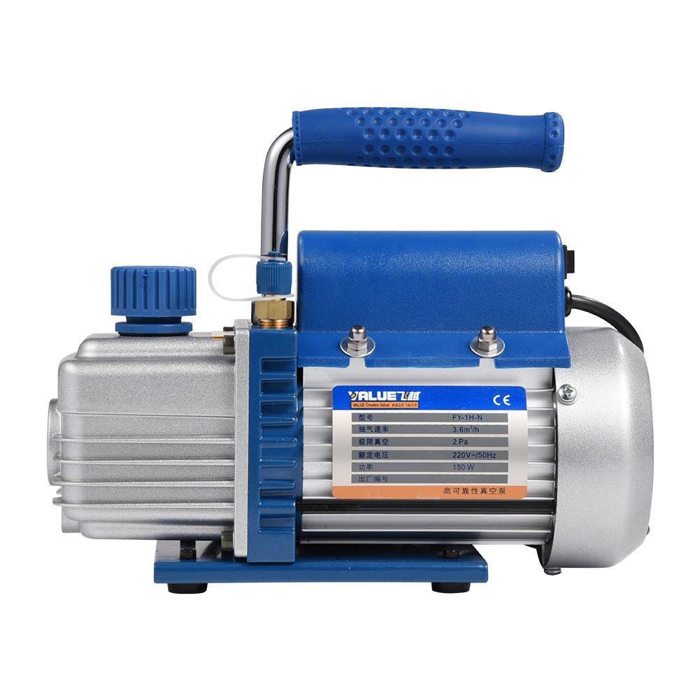 FY-1H-N 150W 220V Electrique Pompe à vide pour HVAC/Auto Ca Air Conditionnement Réfrigérant Recharge Bleu GOTOTOP
