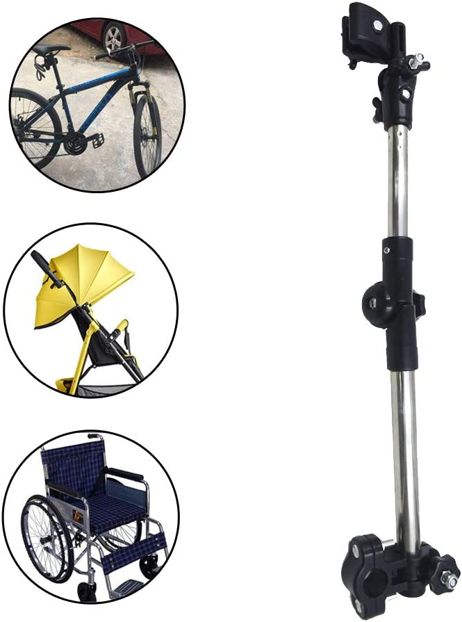 Bicycle,Wheelchair CaoXiong Adjustable Umbrella Frame Holder,Umbrella Handle Holder,Stainless Steel Umbrella Connector Holder,Bike Umbrella Stretch Mount Stand for Baby,Stroller,Pram Scooter,Walker