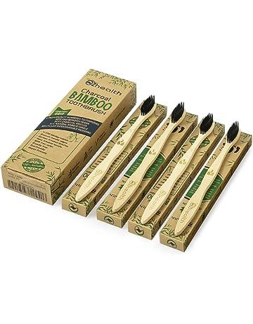 Nubeter Cepillos de dientes de bambú | Paquete de 4 | Ecológico | Blanqueamiento de dientes