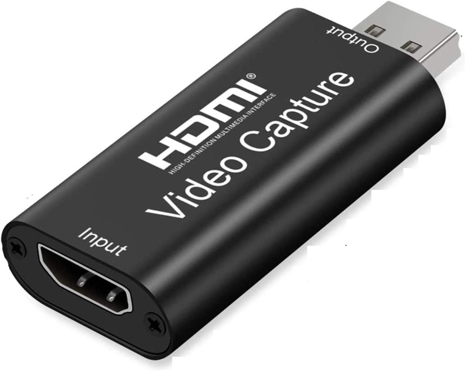 Ultra Low Latency Technology Guizu Cartes de Capture Audio vid/éo,Carte Portable Plug /& Play Capture Enregistrement vid/éo ou Diffusion en Direct,DSLR//Action Cam pour Streaming vid/éo en Direct