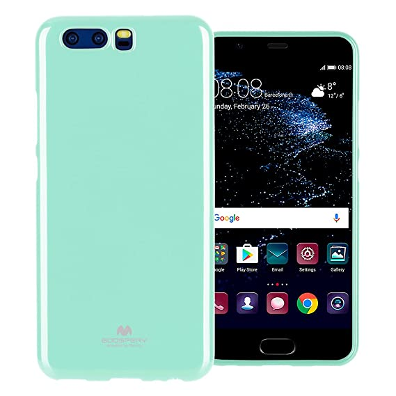 the best attitude 4c728 b45b8 Mercury Marlang Marlang Huawei P10 Case - Mint Green/Free Screen Protector  [Slim Fit] TPU Case [Flexible] Pearl Jelly [Protection] Bumper Cover for ...