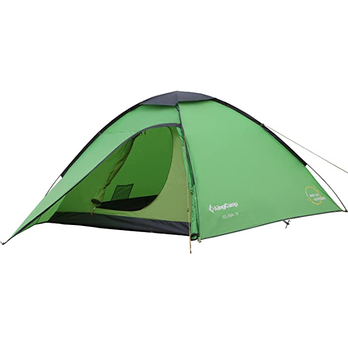KingCamp ELBA 3-Person 3-Season Light Instant Pop Up Dome Tent Waterproof Camping Tent with Carry Bag