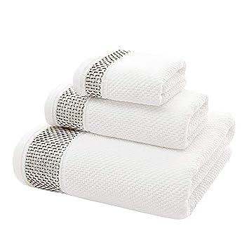 FUNRUI - Juego de Toallas de baño 3 en 1, Toallas de baño de algodón, Toallas de Mano para ...