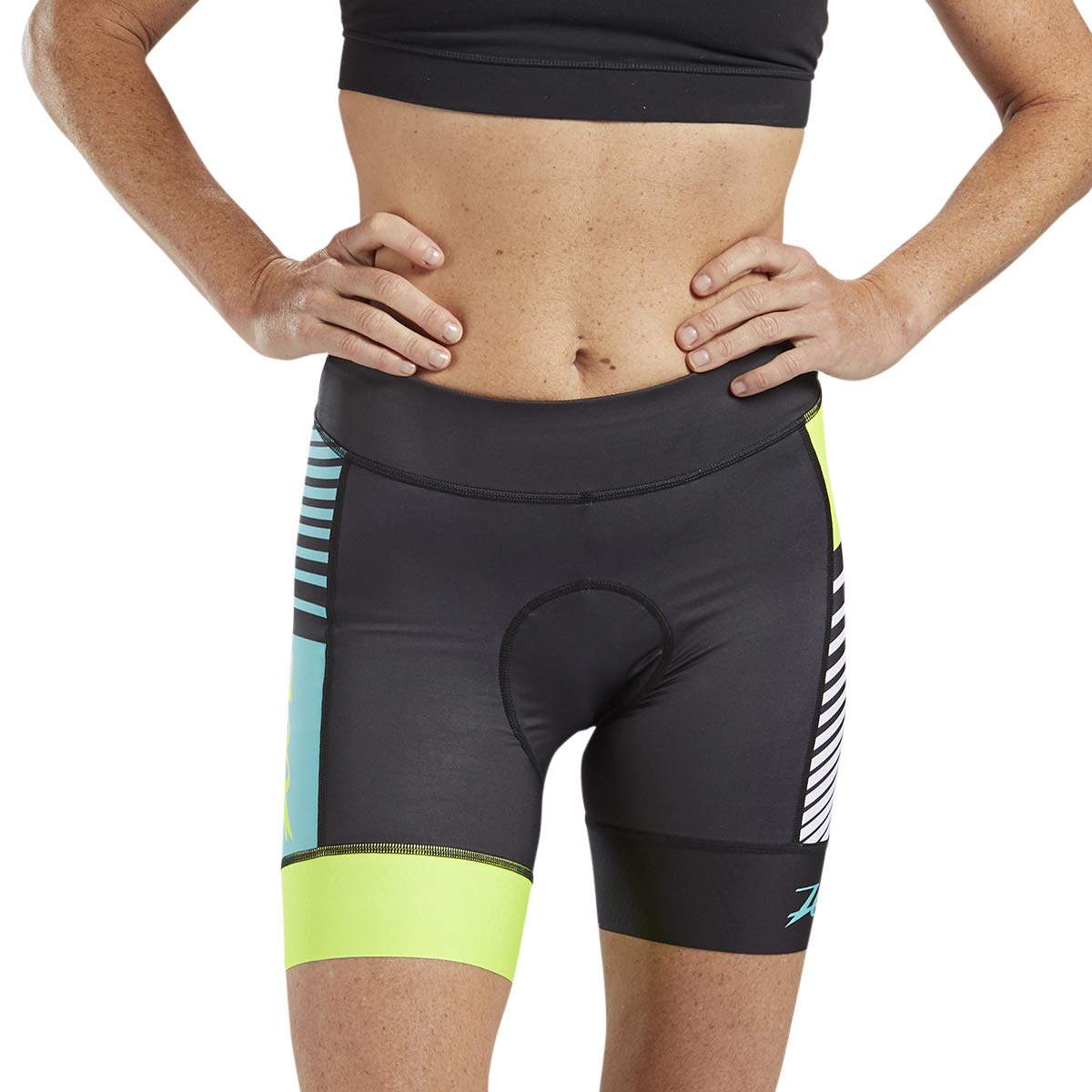 Zoot LTD Women's 7-Inch Cycling Shorts – Performance Cycle Shorts with TMF Chamois (Team, X Small)