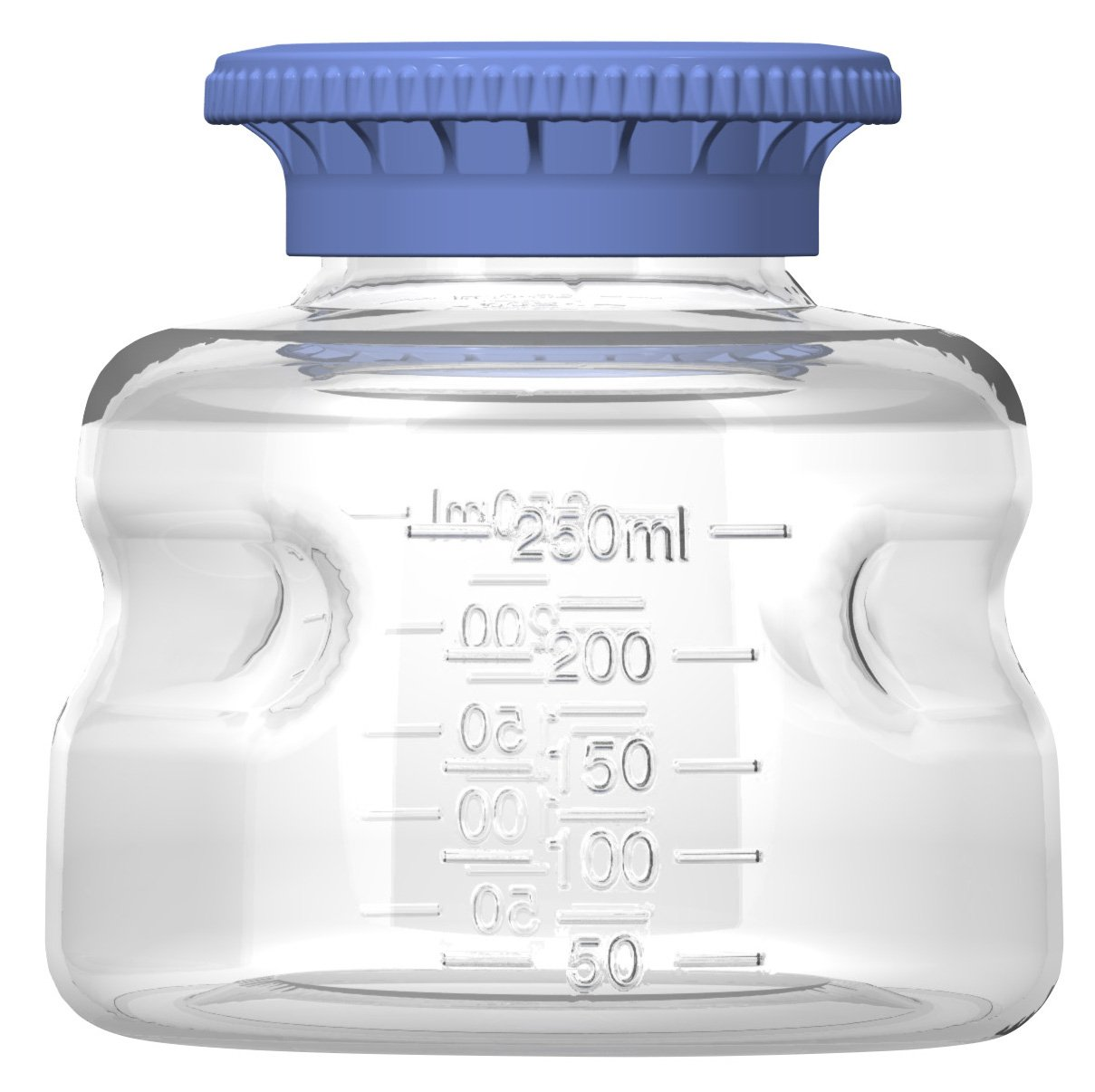 Autofil Polycarbonate Sterile Disposable Media Bottle with Polypropylene Cap, 250ml Volume (Pack of 24)