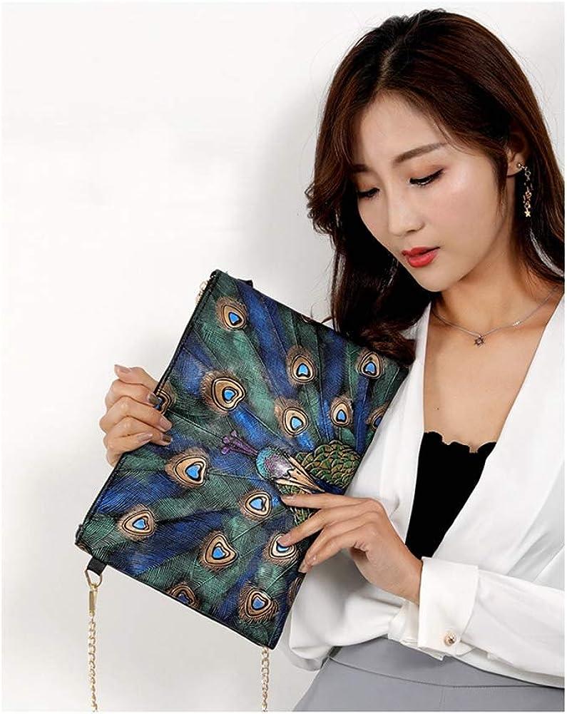 KEAKIA Women PU Leather Floral Peacock Backpack Purse Travel School Shoulder Bag Casual Daypack