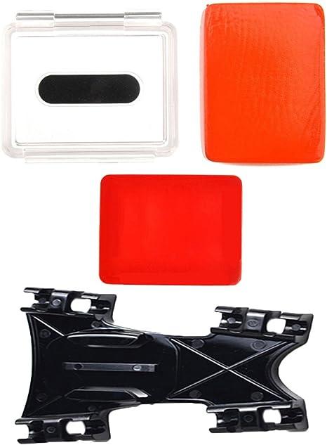 +La Cubierta De Puerta Trasera Impermeable con Adhesivo Caja De Flotación Flotante para GoPro Hero 3