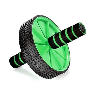 Doble Rodillo de Abdominales de ejercicios rueda con rodilla Mat Pad fitness entrenamiento de fuerza máquina, verde: Amazon.es: Deportes y aire libre