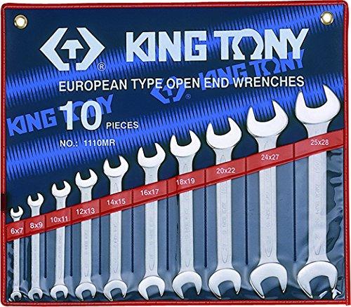 King T. 1110MR Kit di chiavi a forchetta, metriche, Set da 10
