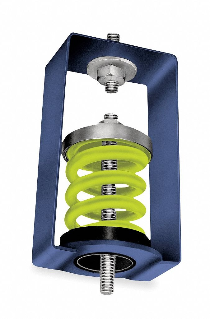 Hanger Mount Vibration Isolator, Spring Isolator Type, 940 to 1250 lb. Capacity Range
