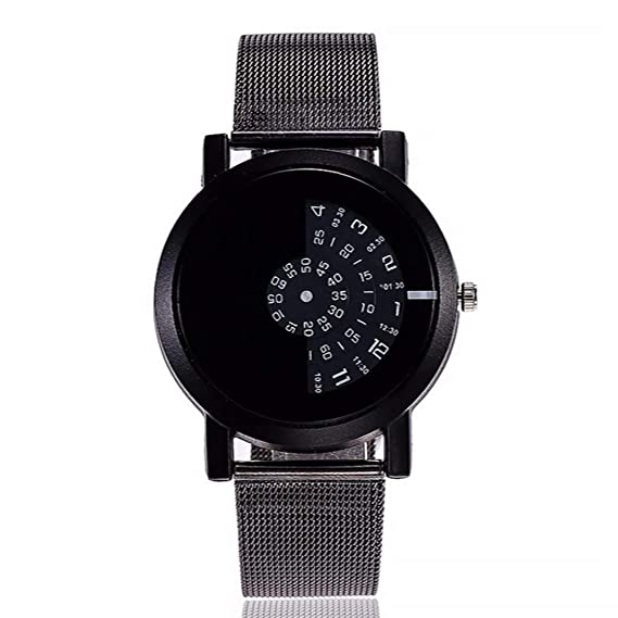 ZXMBIAO Reloj De Pulsera Diseño Unisex Relojes De Moda Cámara Discos Simples Especiales Digitales Reloj De Cuarzo De Manos, Negro: Amazon.es: Relojes