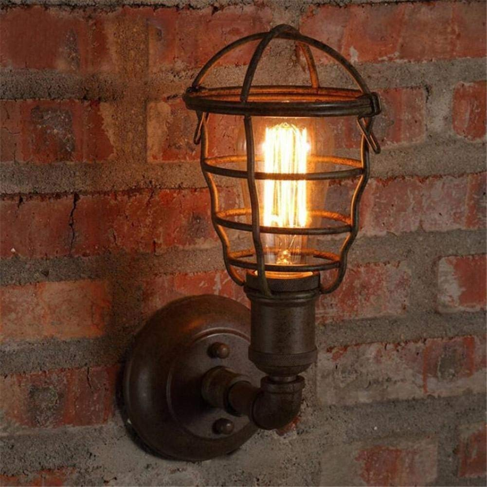 WHKHY Retro Industrial Bar Irons Wall Lamp Coffee Shop Restaurant Convenience Wall Lamp (Light Bulb) of This Product Does Not.