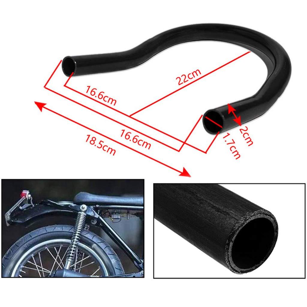 D DOLITY Motorcycle Steel Rear Frame Hoop Brat Seat Cushion Loop Armrest for Cafe Racer 205mm Flat