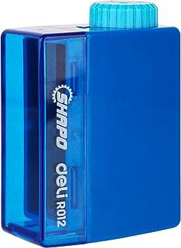 Perfect for Kids /& Students Deli Manual Pencil Sharpener with Lid Adjustable Tip Sharpener for Standard Pencils Random Color Single One per Pack