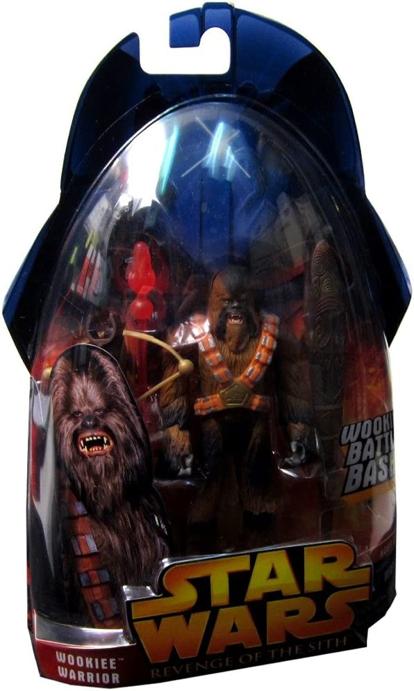 Amazon Com Star Wars Revenge Of The Sith Wookiee Warrior Dark 43 Action Figure By Puzzle Zoo Toys Games