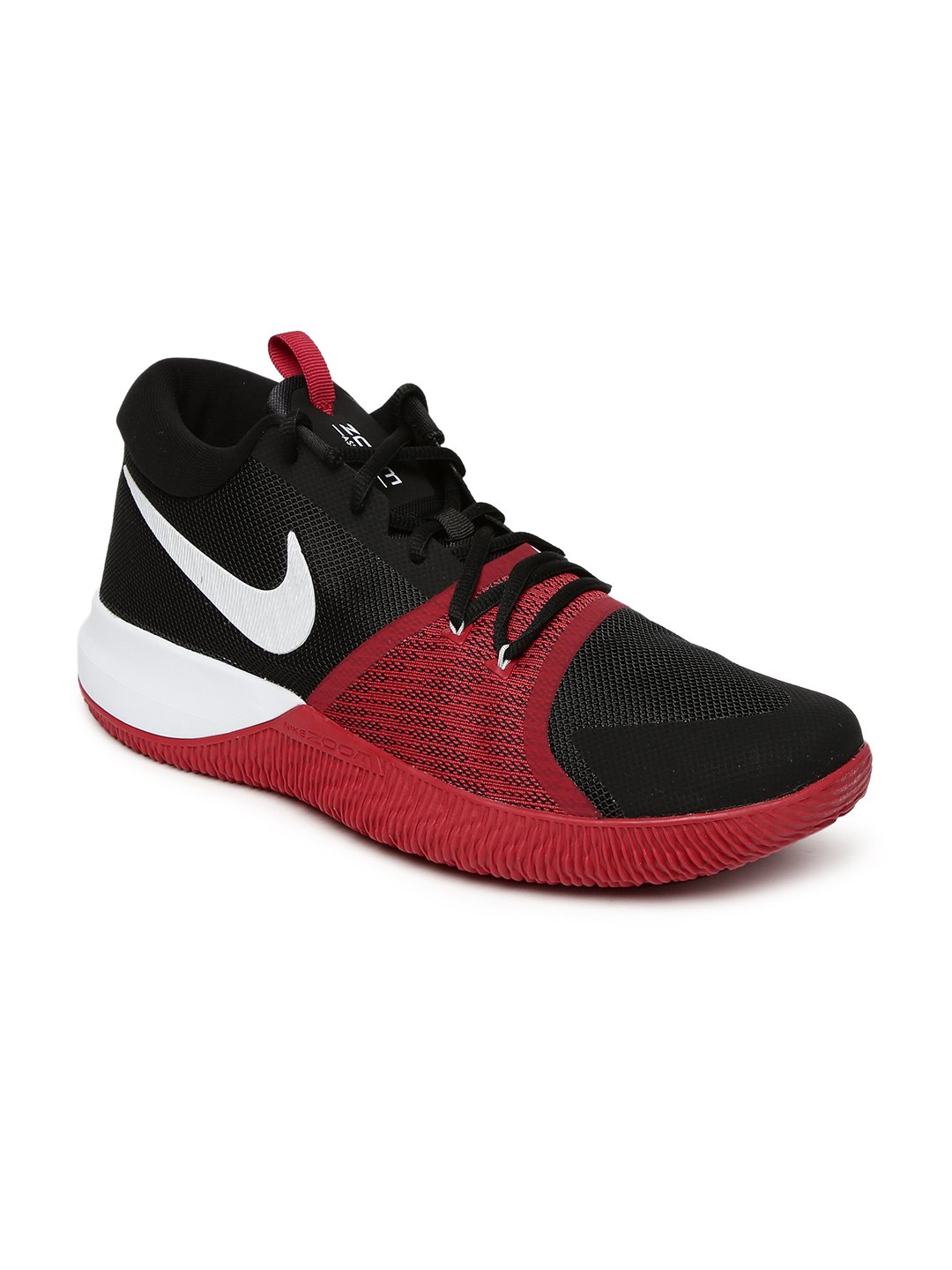 NIKE Men's Zoom Assersion Basketball Shoe B06X3W2825 12 D(M) US|Black/White-gym Red