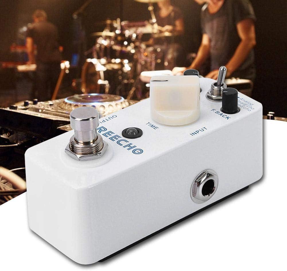 Naroote Pedal de distorsión de Guitarra, Carcasa Totalmente metálica Retardo Digital Accesorios para Guitarra eléctrica