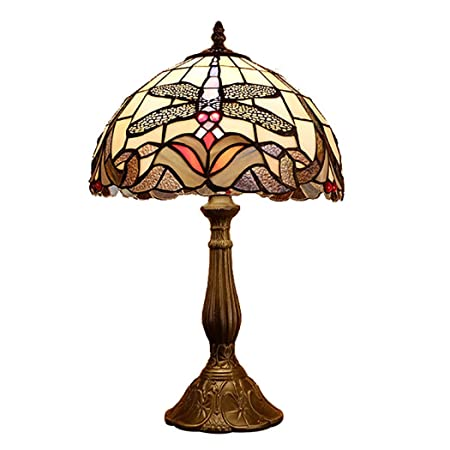 Amazon.com: Lámpara de mesa estilo Tiffany, de 12 pulgadas ...