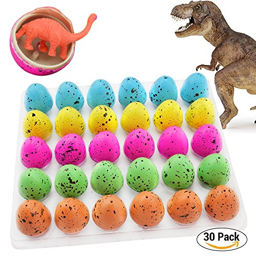 Hatch and Grow Easter Dinosaur Eggs Novelty Hatching Dinosaur Toys Dinosaur Party Supplies for Kids (30 PCS)