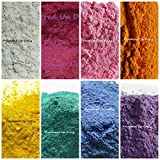 152 Grams of Mica Colorants LOT OF 8 Cosmetic 19g Bags Each Soap & Craft Color Pigment Powders WHITE HOT PINK FUCHSIA Pink ORANGE Gold TEAL Blue PURPLE Set
