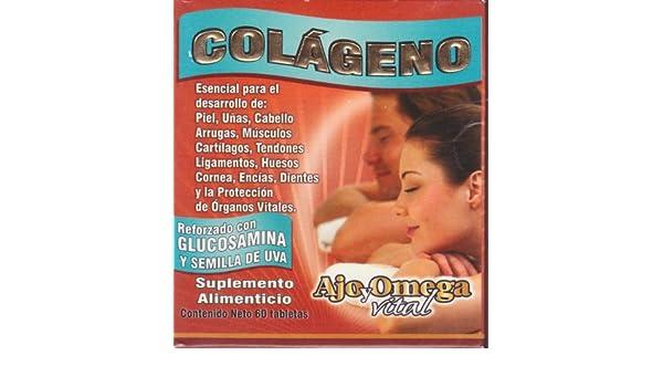 Amazon.com: Colageno. 60 Tabletas Suplemento Alimenticio, Para La Proteccion De Organos Vitales Y Mas...: Health & Personal Care