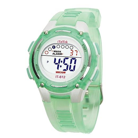 Digital Reloj de pulsera - iTaiTek Ninos Ninas natacion deportes digital impermeable reloj de pulsera (