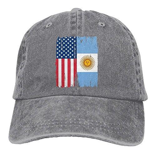 Apolonia Unisex American Argentina Flag Adjustable Denim Fabric Hat