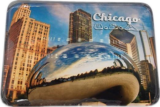 Weekinglo Souvenir Chicago América EE. UU. Imán de Nevera Ciudad ...