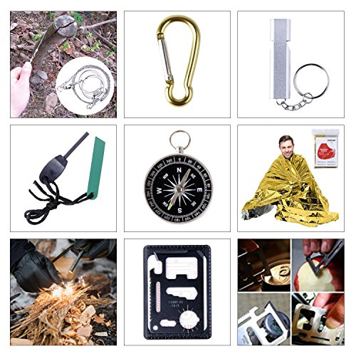 Emergency Survival Gear Kits, Portable Outdoor Survival Gear Tool for Hiking Camping Travel Adventure by GULAKI (Image #6)