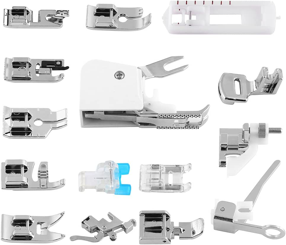 Kit de pie prensatela, varios tipos de prensatelas universal para caminar Conjunto de pie compatible con kit de costura doméstica